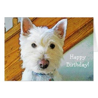 Happy Birthday Doggone It! With Westie Dog Card
