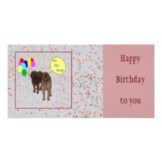 Happy Birthday - Dogs singing Photo Cards