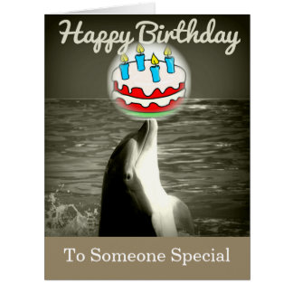 Happy Birthday  Dolphin Art Card
