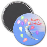 Happy Birthday Dolphin Fridge Magnet