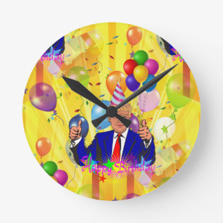 happy birthday donald trump round clock