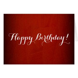 Happy Birthday Dramatic Red Card