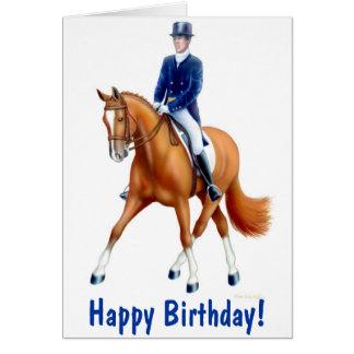 Happy Birthday Dressage Horse Card