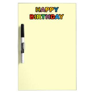 Happy birthday dry erase board