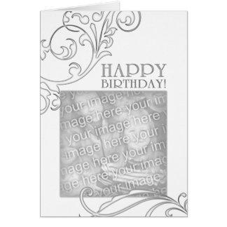 happy birthday (elegant flourish) note card