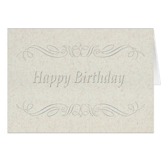 Happy Birthday embossed scroll Card