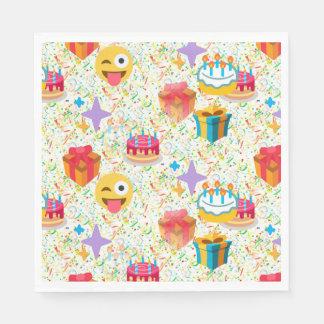 happy birthday emoji napkins disposable napkin