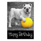 Happy Birthday English Bulldog Puppy Dog Card