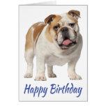 Happy Birthday English Bulldog Puppy Dog Greeting Card