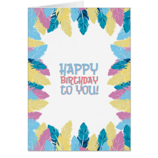 Happy Birthday Fabulous Feathers Card
