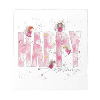 Happy Birthday Fairies Notepad