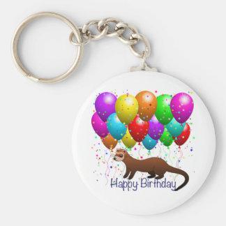 Happy Birthday Ferret Keychain