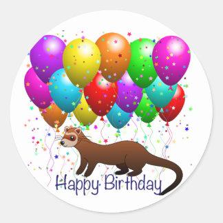 Happy Birthday Ferret Sticker