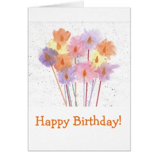 Happy Birthday Festive Candles Card