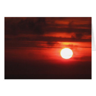 Happy Birthday - Fiery Sunset Card