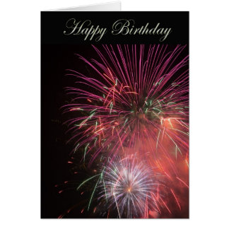 Happy Birthday Fireworks Card