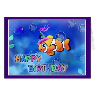 Happy Birthday Fish style 013 Card