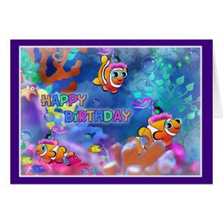 Happy Birthday Fish style 014 Card