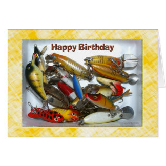 Happy Birthday Fishing Tackle Card