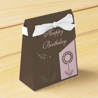 Happy Birthday Floral Beautiful Gift Bag Favor Boxes