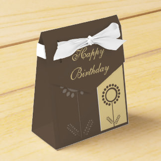 Happy Birthday Floral Beautiful Gift Bag Wedding Favor Boxes