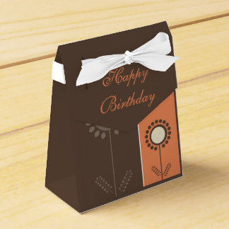 Happy Birthday Floral Beautiful Gift Bag Wedding Favor Box