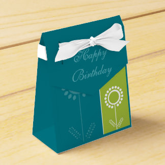Happy Birthday Floral Beautiful Gift Bag Party Favor Boxes