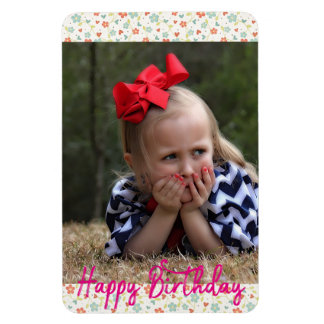 happy birthday Floral Cute Magnet