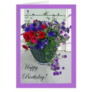 Happy Birthday Flower Arrangement, Card