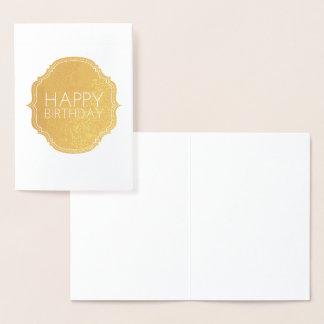 Happy Birthday Foil Card