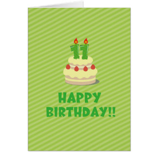 Happy Birthday!! (for 11 years old) Card