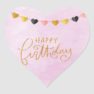 Happy Birthday for Her Heart Sticker