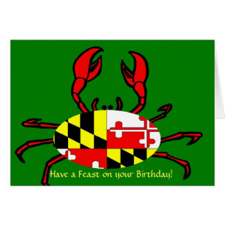Happy Birthday for Marylanders Note Card