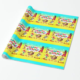 Happy Birthday Forest Friends Wrapping Paper