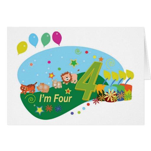 Happy birthday four years greeting cards zazzle