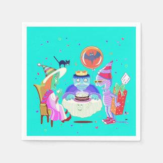 Happy Birthday Frankie (color) napkins Paper Napkins