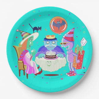 Happy Birthday Frankie (color) paper plate