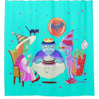 Happy Birthday Frankie shower curtain