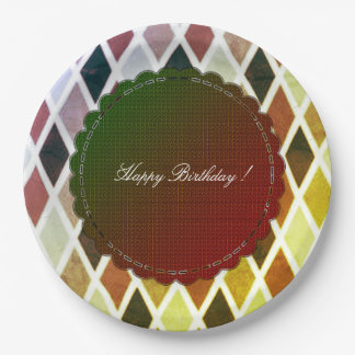Happy-Birthday-French-Elegance-Male-Diamond-Plates Paper Plate