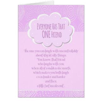 Happy Birthday Friend Funny Fart Card