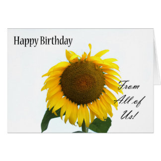 Happy birthday from all of us - sunflower card