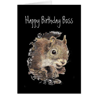 Happy Birthday,From all us assorted Nuts -Squirrel Greeting Card