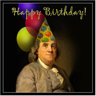 Happy Birthday from Ben Franklin Standing Photo Sculpture