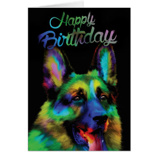 Happy Birthday from German Shepherd Card