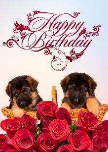 Happy Birthday German Shepherd Invitations Stationery Zazzle Ca