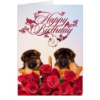 Happy Birthday from German Shepherd Dog Card