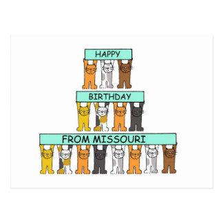 Happy Birthday from Missouri. Postcard
