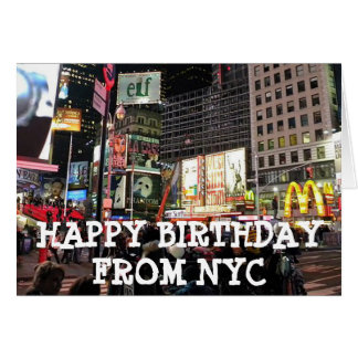 Happy Birthday from NYC Humourous Card