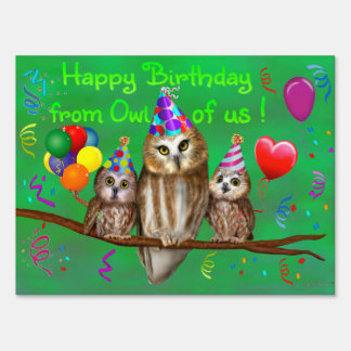 Happy Birthday from Owl of us! Sign