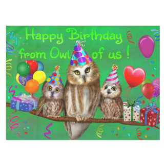 Happy Birthday from Owl of us! Tablecloth